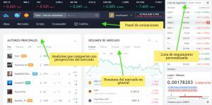 Tradingview entorno principal